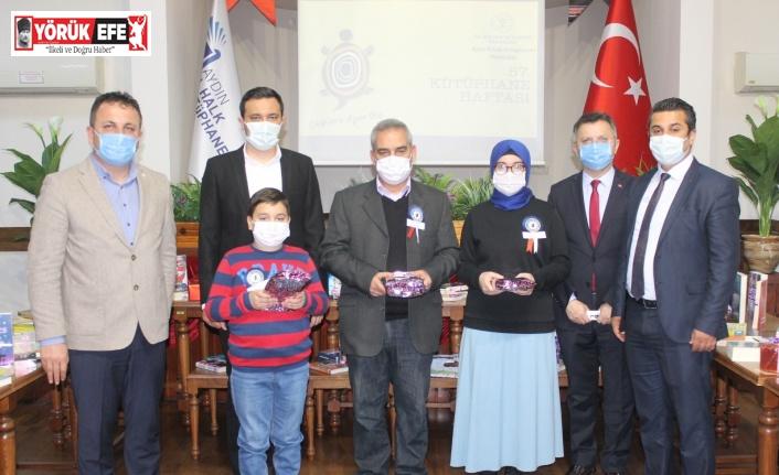Aydın'da kitap kurtları ödüllendirildi
