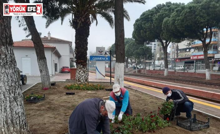 Germencik Belediyesi kent estetiğine yönelik çalışmalarını sürdürüyor