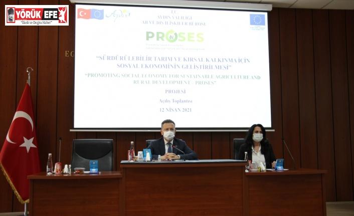 Sürdürülebilir Tarım ve Kırsal Kalkınma için Sosyal Ekonominin Geliştirilmesi projesinin açılış toplantısı gerçekleştirildi