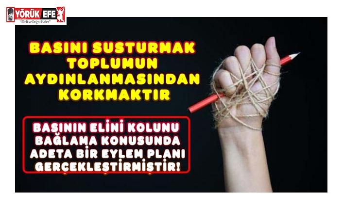 BASINI SUSTURMAK TOPLUMUN AYDINLANMASINDAN KORKMAKTIR