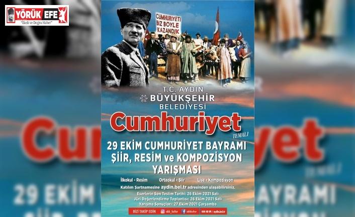 Aydın Büyükşehir, Cumhuriyet temalı resim ve şiir yarışması düzenledi