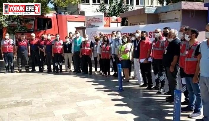 Aydın Devlet Hastanesi'nde yangın tatbikatı