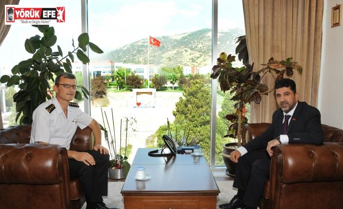 Aydın İl Jandarma Komutanı Engin, Rektör Aldemir ile görüştü