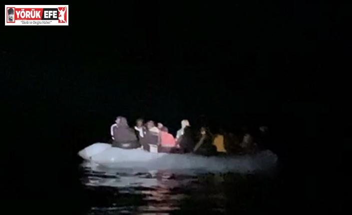 Aydın'da 24 düzensiz göçmen kurtarıldı