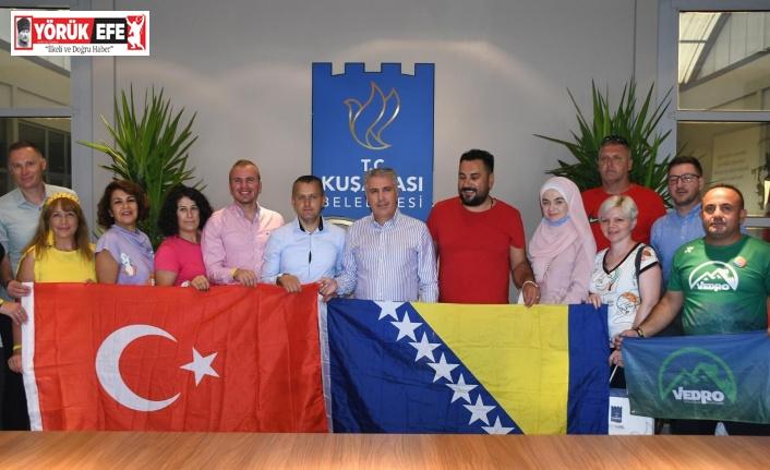 Kuşadası Belediyesi, Bosnalı dağcıları ağırladı