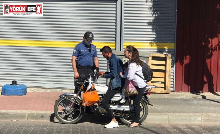 Nazilli'de motosiklet sürücülerine denetim uygulandı