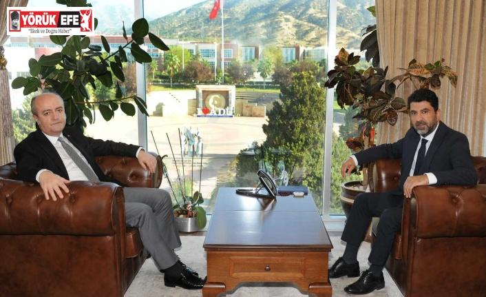 Aydın Cumhuriyet Başsavcısı Eker, ADÜ Rektörü Aldemir ile görüştü
