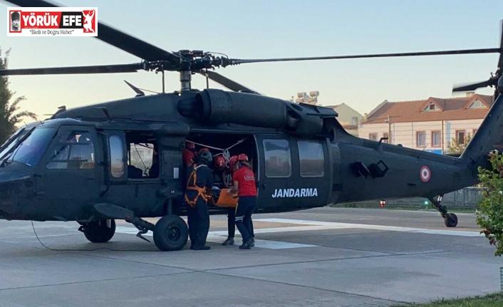 Aydın'dan havalanan helikopter, Fethiye'deki yaralıyı kurtardı