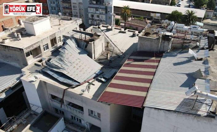 Nazilli Belediyesi, yağmur ve fırtınadan zarar gören bölgeleri tespit etti