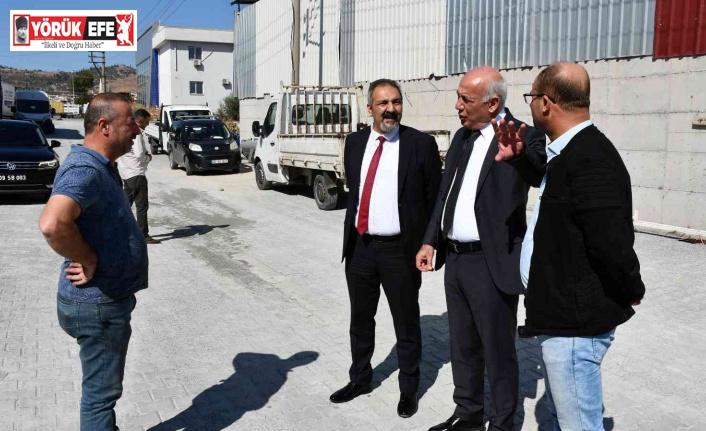 Söke Alt Sanayi Bölgesi'nde 15 bin metrekarelik yol çalışması gerçekleştirildi
