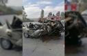 Renault otomobil kağıt gibi ezildi: 1 yaralı