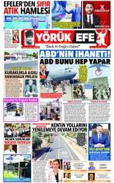 Yörük Efe Gazetesi ®️ | Aydın Haberler - 23.08.2021 Manşeti