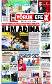 Yörük Efe Gazetesi ®️ | Aydın Haberler - 27.09.2021 Manşeti