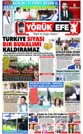 Yörük Efe Gazetesi ®️ | Aydın Haberler - 11.10.2021 Manşeti