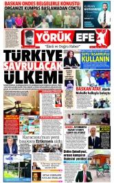 Yörük Efe Gazetesi ®️ | Aydın Haberler - 20.07.2021 Manşeti