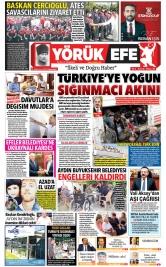 Yörük Efe Gazetesi ®️ | Aydın Haberler - 16.08.2021 Manşeti
