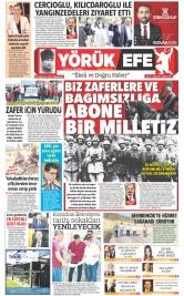 Yörük Efe Gazetesi ®️ | Aydın Haberler - 30.08.2021 Manşeti