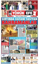 Yörük Efe Gazetesi ®️   Aydın Haberler - 09.08.2021 Manşeti