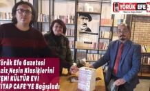 Yörük Efe Gazetesi Aziz Nesin Klasiklerini  YENİ KÜLTÜR EVİ KİTAP CAFE'YE Bağışladı
