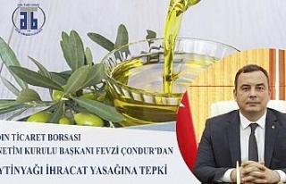 Aydın Ticaret Borsası Başkanı Çondur'dan dökme...
