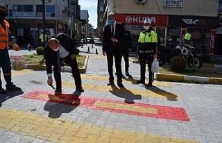 """Çine'de 'Yaya Önceliği Kırmızı Çizgimizdir""""..."""