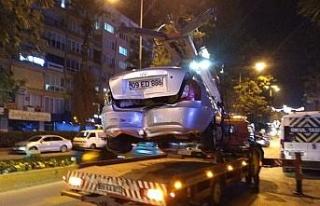 Efeler'de zincirleme trafik kazası: 1 yaralı