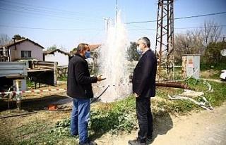 Dalama Mahallesi'nde eski tarımsal sulama kuyusu...