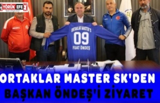 ORTAKLAR MASTER SK'DEN BAŞKAN ÖNDEŞ'İ...