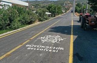 Aydın Büyükşehir Belediyesi yol çalışmalarında...