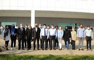 AK Parti Aydın heyeti ADÜ Hastane Başhekimi Bozbaş...