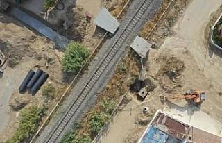 ASKİ, Nazilli'de yağmur suyu hattı çalışmasına...