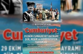 Aydın Büyükşehir, Cumhuriyet temalı resim ve...