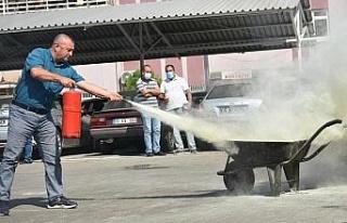Aydın İl Tarım Müdürlüğü personeline yangın...