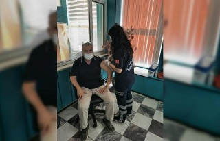 Aydın'da aşı hizmetleri yerinde verilmeye başlandı
