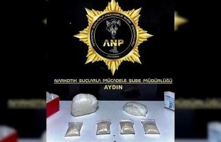 Aydın'da bir haftada 3 kilo uyuşturucu madde ele...
