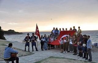 AYFAD üyeleri Çanakkale'de Şehitlere Saygı Yürüyüşü...