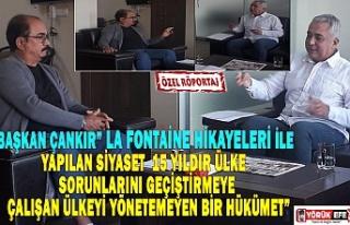 """BAŞKAN ÇANKIR"""" LA FONTAİNE HİKAYELERİ İLE..."""