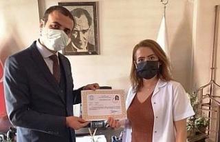 Karacasu'da sağlık personellerine başarı belgesi...