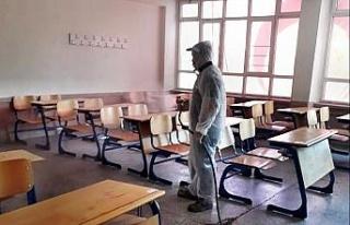 Söke'deki okullarda dezenfeksiyon çalışması
