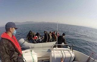 Aydın'da 20 düzensiz göçmen kurtarıldı