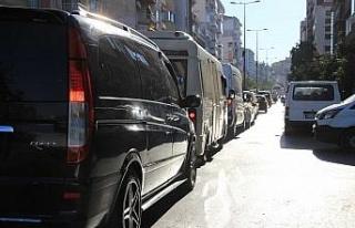Aydın'da İstanbul trafiğini aratmayan görüntüler