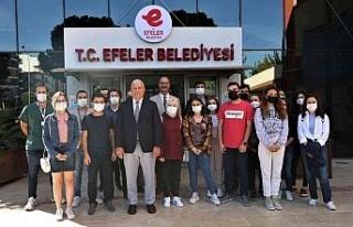 Başkan Atay tıp öğrencilerini ağırladı