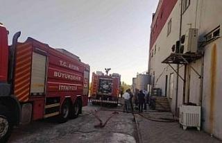 Süt ürünleri işletmesindeki yangın söndürüldü