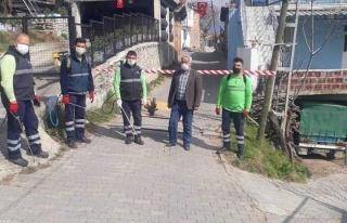 Efeler Belediyesi Karantinada Olan Sokağı İlaçladı...