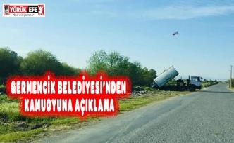GERMENCİK BELEDİYESİ'NDEN KAMUOYUNA AÇIKLAMA