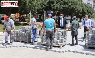 Söke Belediyesi'nin Yol Çalışmaları Tam Kapanmada da Hız Kesmedi