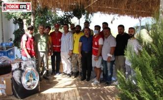 Koçarlı Belediyesi'nden yangınzedelere yardım