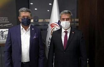 Başkan Erol, Nazilli Ticaret Odası Başkanı Arslan ile görüştü