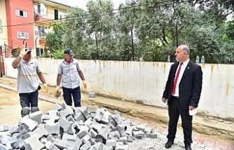 İncirliova'da yol yapım çalışmaları aralıksız devam ediyor