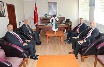 Başkan Tuncel'den, Kaymakam Güney ile bir araya geldi